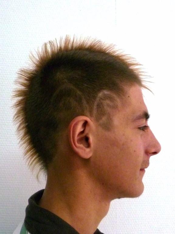 Мужские причёски из редких волос